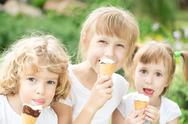 Stock Photo of children eating ice-cream