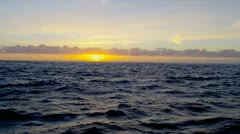 Gentle Ocean Waves Sunrise Slow Motion Stock Footage