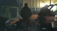 Police with canine Stock Footage
