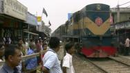 Stock Video Footage of Railway Crossing - Dhaka, Bangladesh