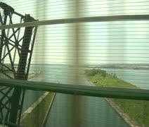 Driving over bridge Saut-Sainte Marie Stock Footage