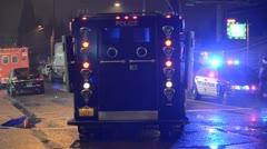 SWAT Vehicle arriving Stock Footage