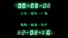 Led clock collection, nixie numbers Stock Footage