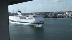 Italian's Ferry to Sardinia Stock Footage