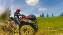 Quad Bike in a Mud - stock footage