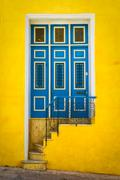 Colorful door on an old house in havana Stock Photos