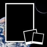 Tyhjä valokuvia avaruudesta maahan tausta Kuvituskuvat