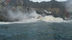 Steam Rising Volcanic Lava Hawaii - stock footage