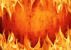 Grunge fire wall background Stock Photos