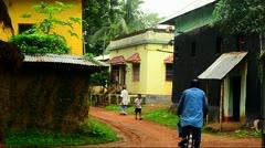 Village Corner Stock Footage