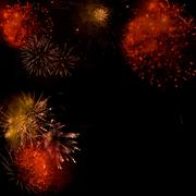 fireworks backgroud made from several images - stock illustration