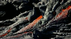 Slow Moving River Molten Lava Kilauea Hawaii Stock Footage