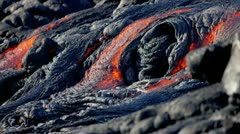 Shimmering Heat Moving Volcanic Lava Flow Stock Footage