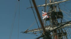 English 1874 ship, Barque James Craig (2)# - stock footage