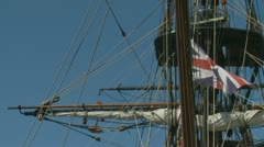 English 1874 ship, Barque James Craig (3)# - stock footage