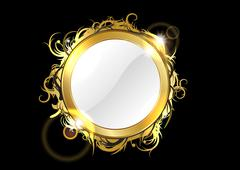 Gold mirror Stock Illustration