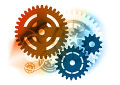 industrial cogwheel - stock illustration