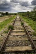 Stock Photo of old beautiful railroad