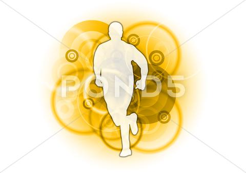 Stock Illustration of gold runner