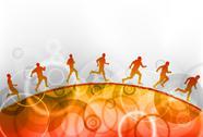Red running Stock Illustration