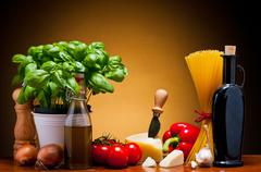 italian cuisine food - stock photo