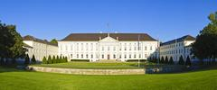 panorama with bellevue palace in berlin - stock photo