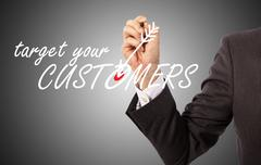 target your customers - stock illustration