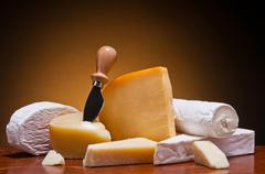 Stock Photo of cheese still life