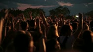 Stock Video Footage of concert crowd, slow motion