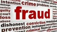 Stock Video Footage of Fraud message conceptual design