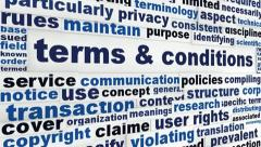 Terms and conditions word clouds design Stock Footage