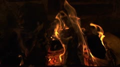 SLOW MOTION: Fireplace - stock footage