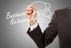 Business networking Stock Illustration