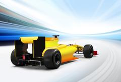 formula one car - stock illustration