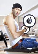 man in gym - stock photo
