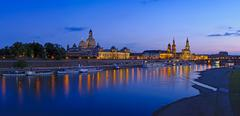 Stock Photo of dresden at twilight