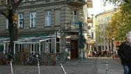 European city street Berlin Stock Footage