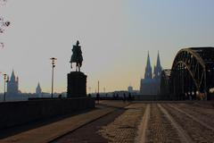 Cologne Cathedral and Hohenzollern Brigde. Stock Photos