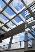 Pergola ja hissikuilun arkkitehtuuri Kuvituskuvat
