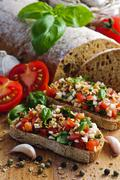 italian bruschetta - stock photo