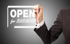open for business - stock illustration