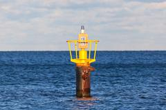 Buoy at sea Stock Photos