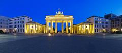 panorama brandenburg gate - stock photo