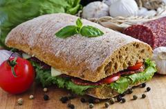 ciabatta sandwich - stock photo