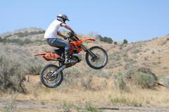Dirt Bike Air - stock photo