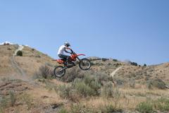 Jumping the Sage Brush - stock photo