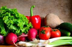 Fresh organic vegetables Stock Photos