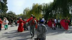 Uyghur dancer under sun. Stock Footage