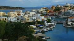 Crete12 Ag.Nikolaos harbour Stock Footage