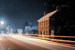 Winter Night in Vermont - stock photo